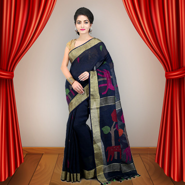 Buy Linen Sarees Online in India