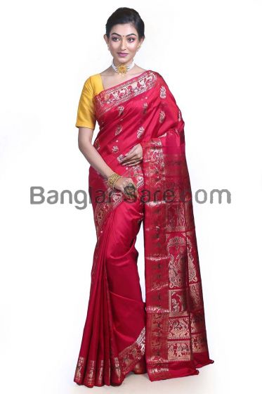 Pure Silk Swarnachari Partywear Saree