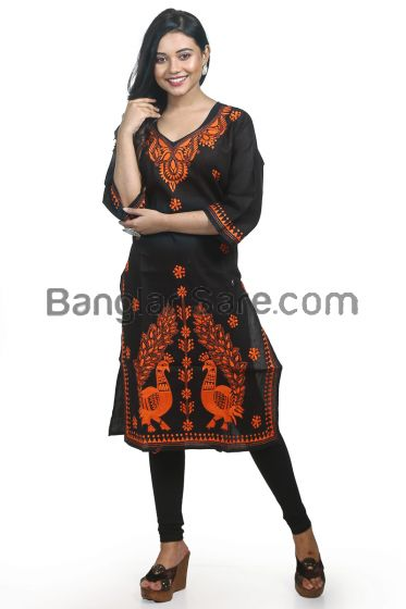 Pure Hand Thread work Cotton Kurti