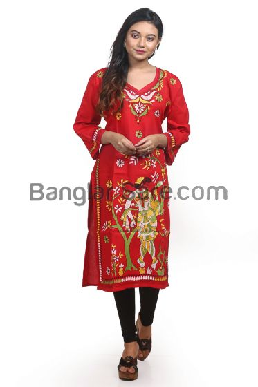 Kantha Stich Hand Work Ladies Cotton Kurti's