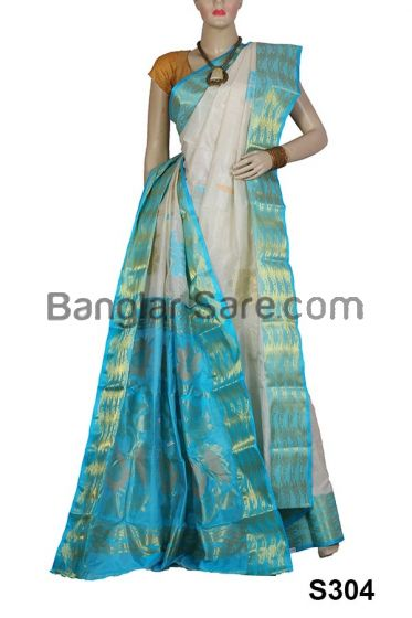 Trendy Bengali Silk Saree (S304)