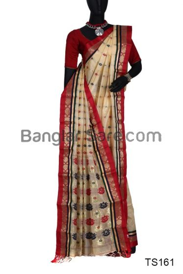 Pure Bengali Tussar Silk Saree
