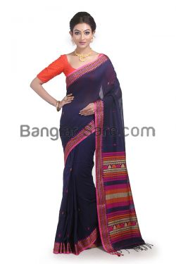 Pure Bengal cotton saree for Puja