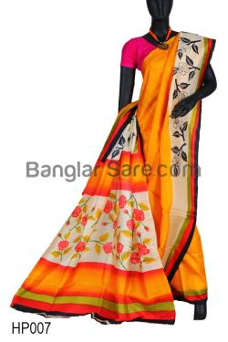 Indian Trendy Hand Painted Saree(HP007)