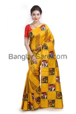 Indian Trendy Hand Painted Saree(HP014)