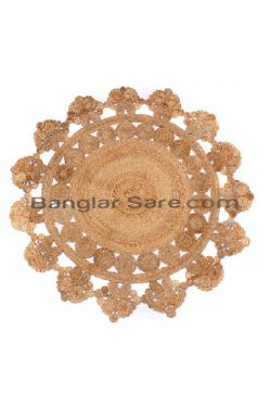 Purely Handicraft Jute Table Cover