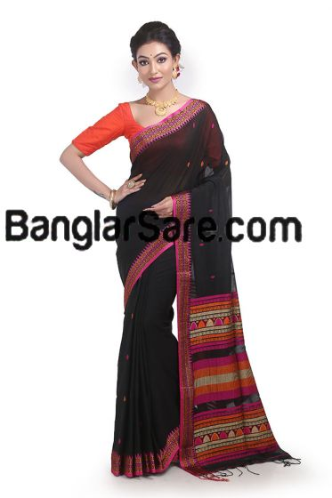 Pure Bengali cotton sari for Festival