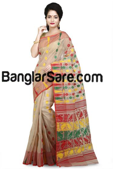 Fashionable Jamdani Saree