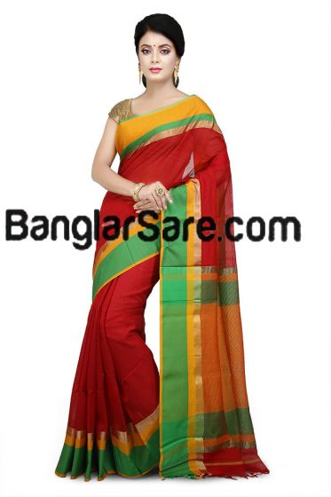 Maheshwari Silk-Cotton Saree(M241)