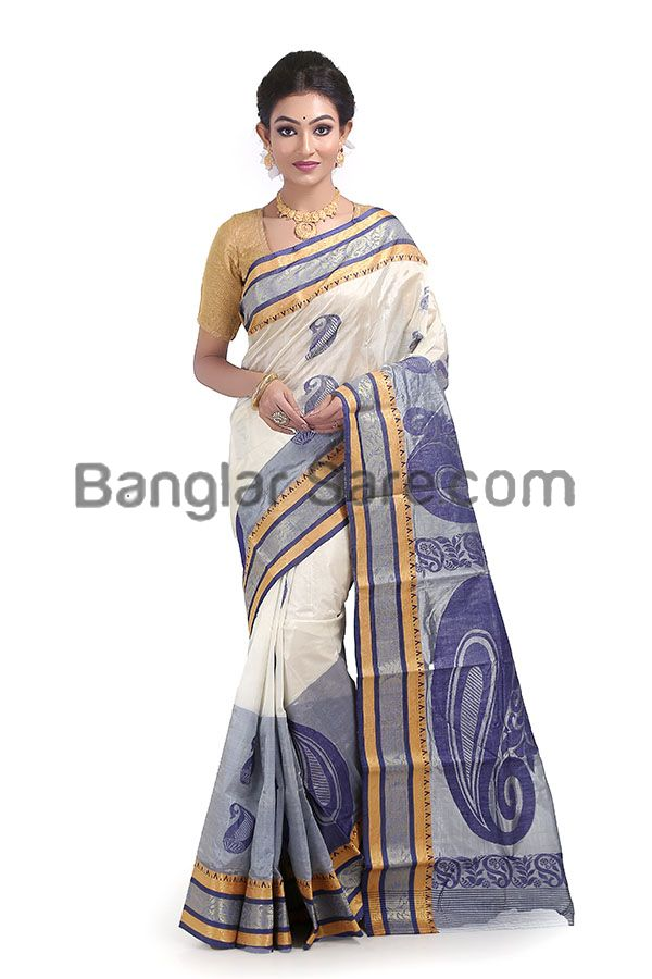 Traditional Tussar Silk Handloom Saree(TS124)