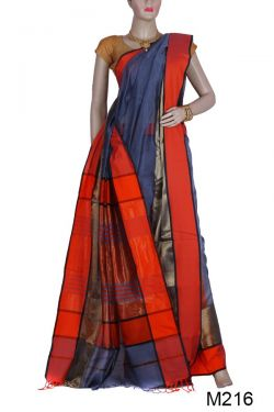 Maheshwari Silk-Cotton Saree(M216)