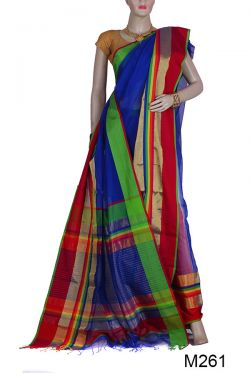 Gorgeous Maheshwari Silk-Cotton Saree(M261)