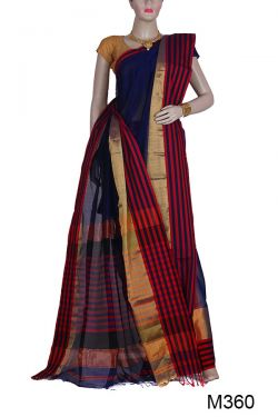 Ethnic Maheshwari Silk-Cotton Saree(M360)